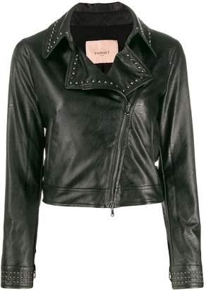 Twin-Set studded biker jacket