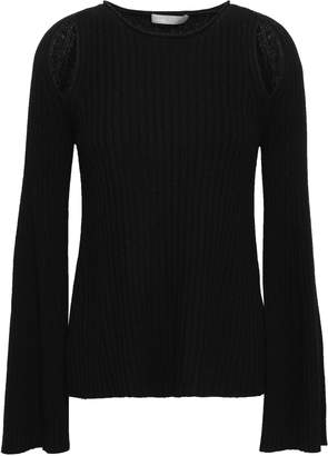 Vince Cutout Ribbed-knit Cashmere Sweater