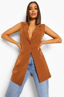 boohoo Longline Tailored Waistcoat
