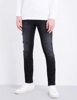 Calvin Klein Distressed slim-fit skinny jeans