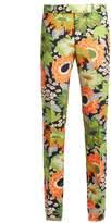 Gucci Floral-print slim-leg wool-blend trousers