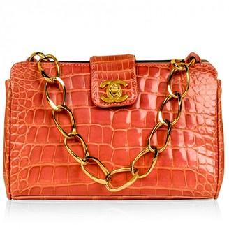 Chanel Pink Crocodile Handbags