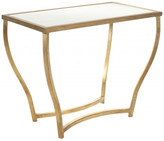 Safavieh Rex Accent Table, White, Gold Legs