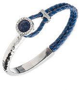 lonna & lilly Semi-Precious Sodalite Silvertone Braided Bracelet