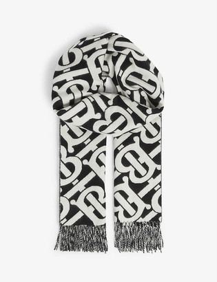 Burberry Monogram cashmere scarf