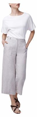 b new york Women's Linen Wide Leg Pant