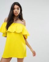 boohoo Off The Shoulder Ruffle Dress