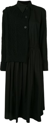 Yohji Yamamoto Cotton Button-Up Shirt Dress