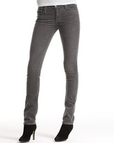 Premiere Skinny AG-ed Stretch Cord in Grey Aged
