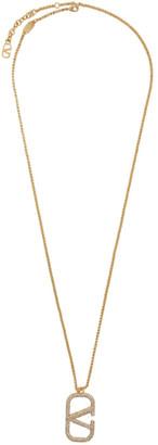 Valentino Gold Garavani Chain VLogo Necklace