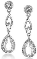 Carolee Columbus Circle Linear Teardrop Earrings