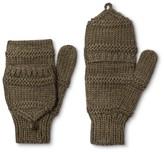 Women's Hand Knit Wool Blend Fliptop Mitten