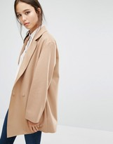 French Connection Platform Felt Coat