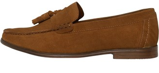 Onfire Mens Suede Tassel Loafer Shoes Tan