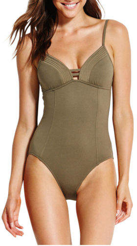 Seafolly NEW Quilted Maillot Olive