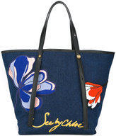 See by Chloe magnolia embroidered tote - women - Polyurethane - One Size