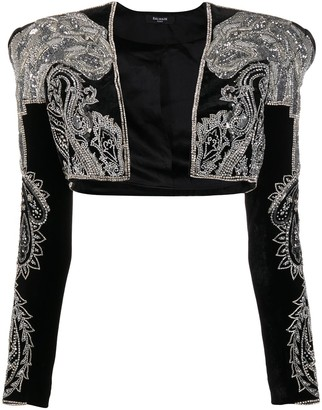 Balmain Embroidered Bolero Jacket