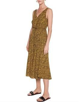 Veronika Maine Modern Snake V Neck Dress