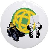 CafePress - Celtic Knot Irish Shoes Ornament (Round) - Round Holiday Christmas Ornament