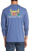 Vineyard Vines Men's 'Touchdown' Long Sleeve Crewneck Pocket T-Shirt