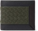 Bottega Veneta - Intrecciato-trimmed Full-grain Leather Billfold Wallet