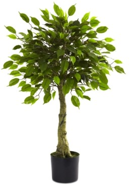 Nearly Natural 3' Artificial Ficus Uv-Resistant Indoor/Outdoor Tree