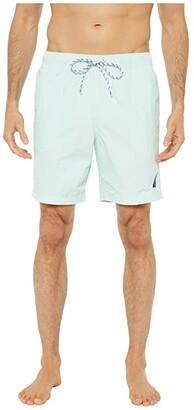 Nautica Solid Quick Dry Swim Trunk (Blue 1) Men's Swimwear