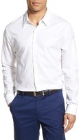 James Perse Trim Fit Flannel Dress Shirt