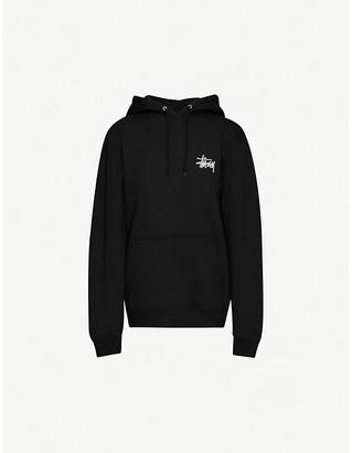 Stussy Logo-print cotton-jersey hoody