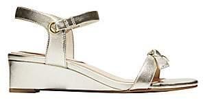 Cole Haan Women's Halsey Metallic Leather Wedge Sandals