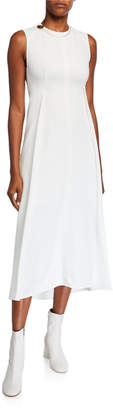 Victoria Beckham Fluid Cady High-Neck Dress
