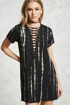 Forever 21 Stripe Bleach Wash Shift Dress
