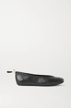 Nicholas Kirkwood Delfi Faux Pearl-embellished Leather Ballet Flats - Black