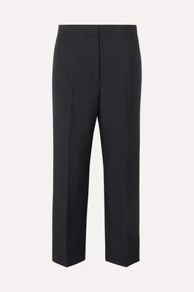 Jil Sander Cropped Wool And Mohair-blend Pants - Navy
