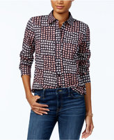 Tommy Hilfiger Colorblocked Star-Print Shirt, Only at Macy's