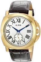 A Line a_line Women's 80007-YG-02-BR Pyar Brown Leather Watch