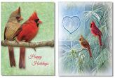 Cardinals Holiday Greeting Card - Set of 20