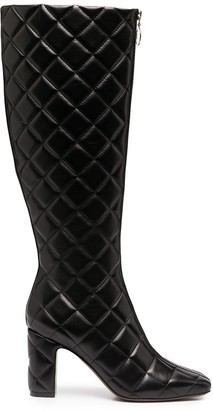 L'Autre Chose Quilted Knee-Length Boots