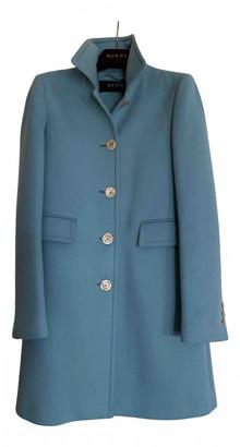 Gucci Blue Wool Coats
