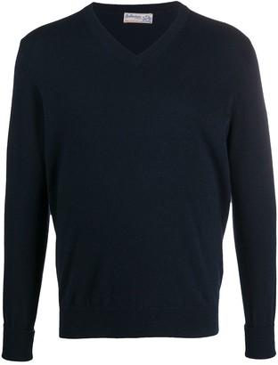 Ballantyne Fine Knit V-Neck Sweater