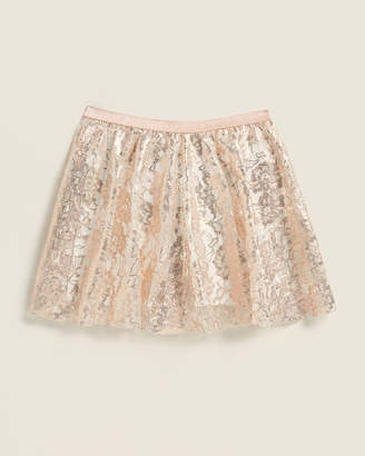 Elsy Girls 7-16) Esteva Foil Floral Lace Skirt