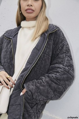 Forever 21 Quilted Zip-Up Jacket