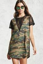 Forever 21 Lace Camo T-Shirt Dress