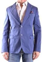 Manuel Ritz Men's Blue Cotton Blazer.