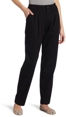 Lee Women's Relaxed Fit Side Elastic Pleated Pant