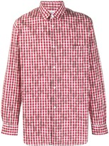 Comme des Garcons Gingham Check Distressed Effect Shirt