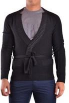 Galliano Men's Black Wool Cardigan.