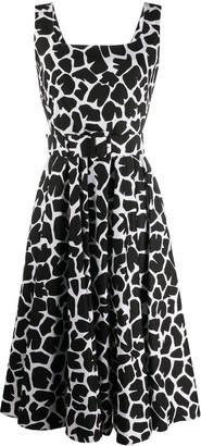 Samantha Sung Animal Print Belted Midi Dress