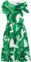 Dolce & Gabbana Printed Cotton-poplin Dress - Green