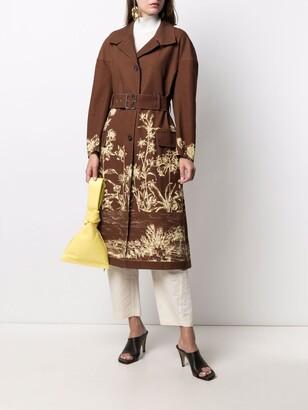 Salvatore Ferragamo Floral-Print Coat